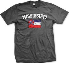 Mississippi State Flag State Colors Hometown Pride America -Mens T-shirt