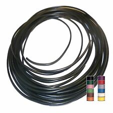 BLACK (+ 11 TRACERS) - THINWALL 1mm2 Automotive Cable/Wire 16.5A – per 5 metres