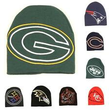 NFL Football Team Big Logo Hype Hat Beanie Winter Knit Cap - Pick Team