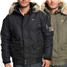 Geographical Norway Artic Herren Winter Jacke - Schwarz - Khaki