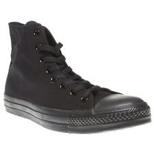 New Mens Converse Black All Star Hi Canvas Trainers Lace Up