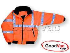 MAJESTIC 75-1302 High Visibility Lined Protective Bomber Jacket Fleece Lining