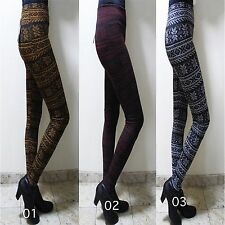 Womens Stretch fleece lined Leggings Warm Thick collection of Tights Basic