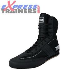 Mens Tuf-Wear Shuffle Hi Black Boxing Boots (Brand New In Box)