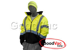 Majestic 75-1311 High Visibility Winter Lined Bomber Jacket High Vis ANSI ISEA