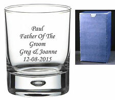 Personalised Whisky Glass Wedding Gifts, Mother / Father of the Bride, Groom