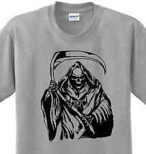 Grim Reaper Angel of Death Skull Novelty T-shirt Any Size