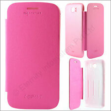 Leather Book Flip Back Cover Replace Case for Micromax A110 / A110Q Canvas 2