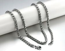 U pick silver Flower rope chain stainless steel Jewelry unisex Necklace 3mm/4mm