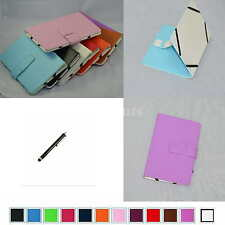 """Colorful Folio Leather Case Cover+Stylus For 7"""" VISUAL LAND PRESTIGE 7G Tablet"""