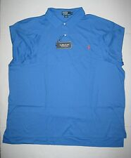 MENS POLO RALPH LAUREN BLUE PERWINKLE INTERLOCK SHIRT XLT 4XLT 2XB 3XB BIG NEW