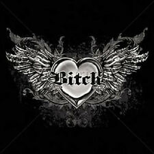 Bitch with Wings T Shirt  Choose Style, Size, Color Ladies Biker Tattoo  20001