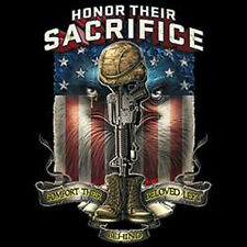Honor Their Sacrifice T Shirt  Choose Style, Size, Color Honor Freedom Tee 10378