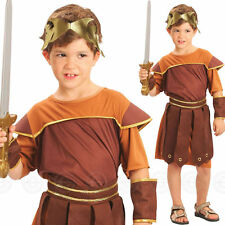 CHILD BOYS ROMAN SOLDIER GLADIATOR BOOK DAY FANCY DRESS COSTUME