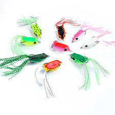 Fishing Crankbaits Frog Lures Baits Hook Bass Artificial Frogs Swimbait Lure