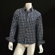 NWT Hollister by Abercrombie Men's Shirt - Huntington Beach Flannel Check Navy
