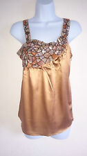 Guess by Marciano Womens Brown Silk Top in Sizes 42(UK10), 46(UK14)