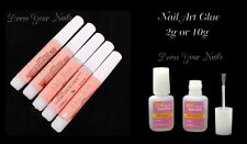 NAIL Art Glue 2g or 10g with brush False Nails Art Professional Salon Super Glue