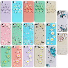 Cute Flower Bling Diamond Rhinestone Crystal Hard Case Cover for Apple iPhone 5C