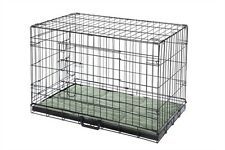 Confidence Pet Folding Dog Crate Kennels 2 Door Puppy Cage With Bed