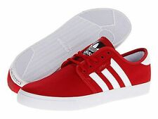 ADIDAS ® SEELEY J CANVAS RED WHITE BLACK KIDS CASUAL SHOES * NEW IN BOX