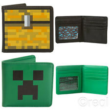 New Minecraft Creeper Face & Treasure Chest Wallet Official Licensed