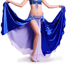 New Belly Dance Performances 2 colors 2 layers Single Slit Skirt/Dress 8 colours