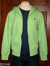Polo Ralph Lauren Fleece Hoodie Zip Sweatshirt Lime Green  Polo Pony S M L  NWT