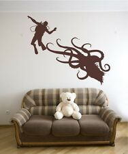 Vinyl Wall Decal Sticker Scuba Diver and Octopus OS_AA746s 58W x 48H