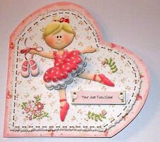 Handmade Greeting Card & Matching Envelope 3D With A Ballerina All Occasion