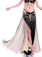 New Sexy Belly Dance Costume 2 layers with 2 side slits Skirt/Dress 10 colours