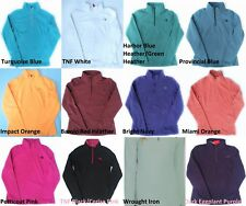 New The North Face Womens TKA 100 Pullover 1/4 Zip Fleece Microvelour Glacier