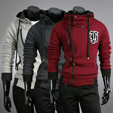Korean Men's Slim Fit Shinning Jackets Coats Hoodies Smart Jumper Outerwear