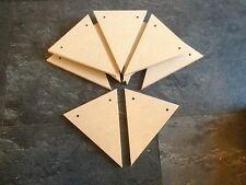 100 MDF bunting triangles for craft or diy 140mm x 115mm cheap price 6mm