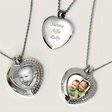 Ladies Open Locket Style Necklace with Your Permanent Photo. Free Engraving!