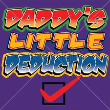 Daddy's Little Deduction Infant Creeper Your Choice Colors & Sizes 30085