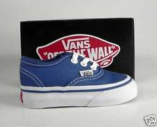 VANS Authentic Navy Blue Canvas Toddler size Shoes Infant Baby Boys Sneakers