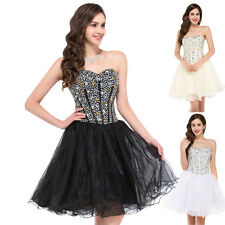 2014 Sexy Sweetheart Short Organza Prom Ball Gown Party Homecoming Evening Dress