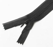 """Black 10"""" / 25.5 cm. Closed End Invisible Zipper by 10 Zippers"""