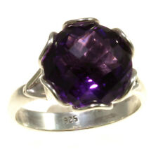 Gorgeous Amethyst Rings 925 Sterling Silver Jewelry Great Gift Item From Bali