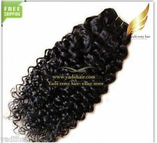 Remy Brazilian & Malaysian Curly Human hair Extension Natural color weave weft