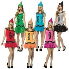 Crayola Crayon Party Dress Funny Group Adult Costume Fancy Halloween