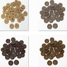 "30mm 1-1/4"" SZ 48 Plastic Coat Buttons BROWN 10-90 buttons Discount Retail"
