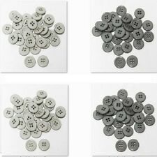 "30mm 1-1/4"" SZ 48 Plastic Coat Suit 4Hole Button GRAY 10-90 Discount Retail"