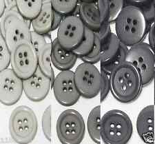 "15mm 5/8"" SZ 24 Plastic Coat Buttons GRAY 10-90 button Discount Retail"
