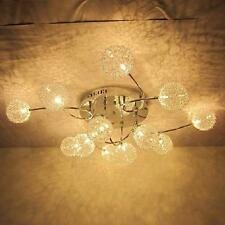 Modern Chrome Celing Chandelier Light Lamps Aluminum Wire Crystal Lampshades