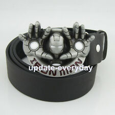 Western New Silver Fashion Ironman Mens Metal Belt Buckle Leather Costume Gift