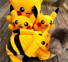 Yellow Cute Pikachu Pet Dog Soft Clothing Clothes Hoodie Coat Jumpsuit