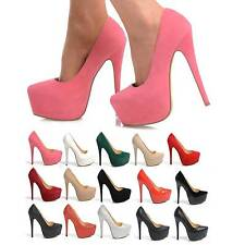 NEW HIGH HEEL STILETTO COURT SHOES PARTY PUMP HEELS SUEDE PATENT GLITTER