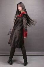 HOT! 2014 DEVIL MAY CRY 5 DMC 5 DANTE LEATHER TRENCH COAT COSTUME COSPLAY JACKET